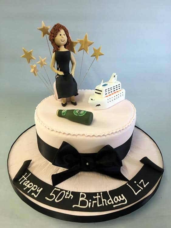 50th Birthday cake Lady