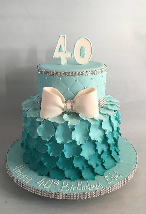 Ombrea 40th Birthday Cake