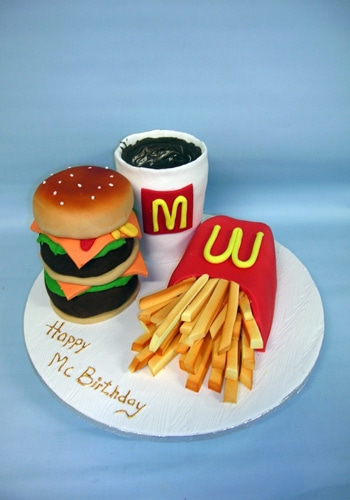 Ref Big Mac Meal Birthday cake