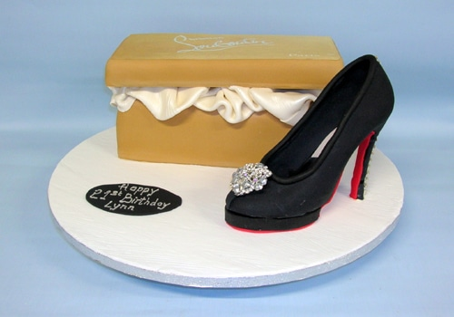 Ref Christian Louboutin cake