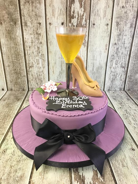 Cocktail And Chocolate Shoe Birthday Cake