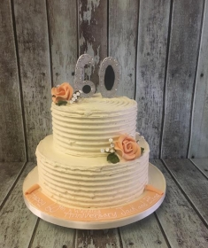 60 birthday cake butter cream style