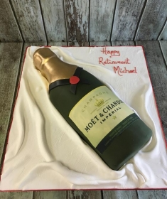 Moët birthday cake