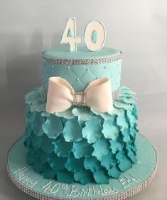 Ombrea 40th Birthday Cake