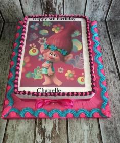Trolls girls birthday cake
