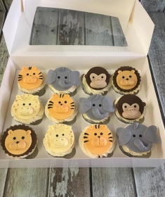 animal face cup cakes