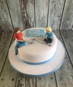 boys golf birthday cake