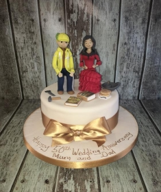 builder and spanish dancer birthday cake