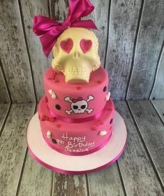 chocolate skull birthday cake