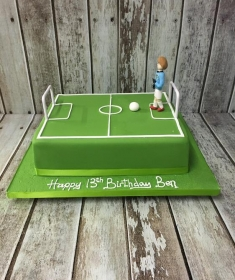 birthday cake football pitch