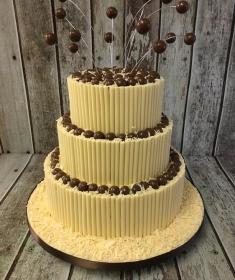 maltesers whit chocolate birthday cake