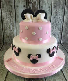 mini mouse girls pink birthday cake
