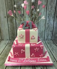 pink parcel girls birthday cake