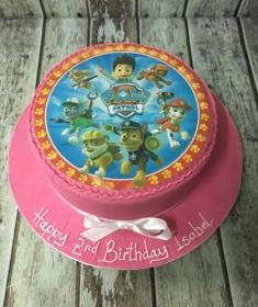pink pawpatrol birthday cake