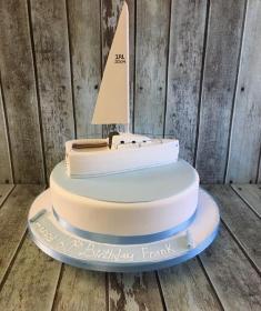 sail boat birthday cake