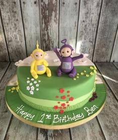telly tubbys birthday cake