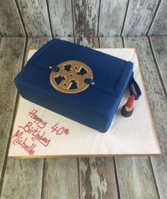 tory burch hand bag birthday cake