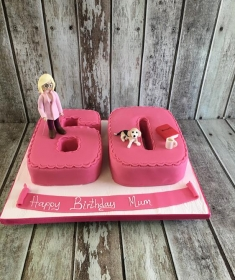 womans 60th birthday cake