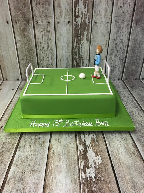 birthday cake football pitch