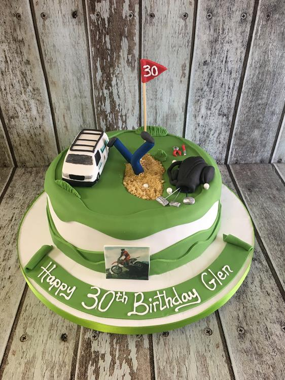 golf & van birthday cake