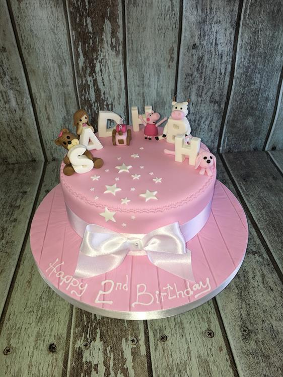 pink girls birthday cake