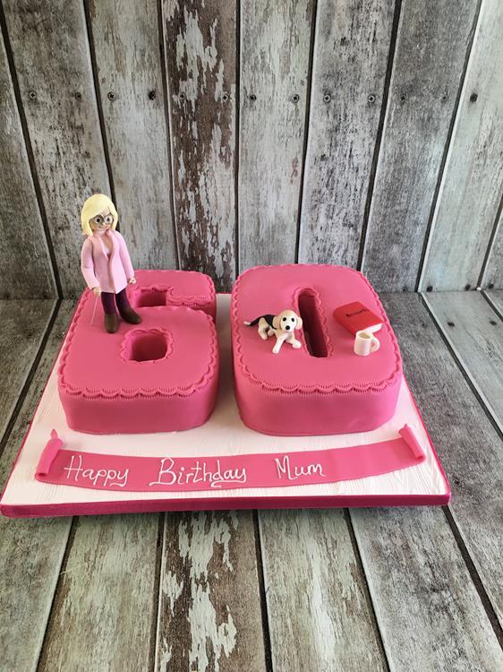 womans 60th birthday cake