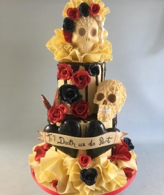 Till Death do us part, Chocolate wedding cake