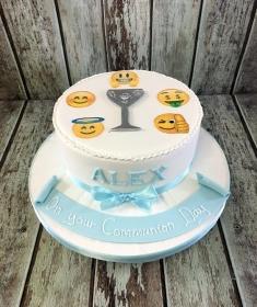 communion cake for Alex