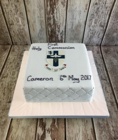 communion cake for Cameron