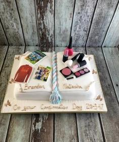 confirmation book cake boy& girl