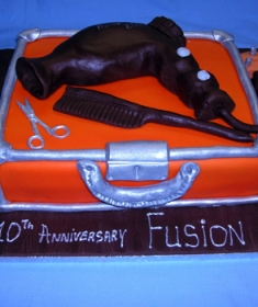 corporate cake for hair salon