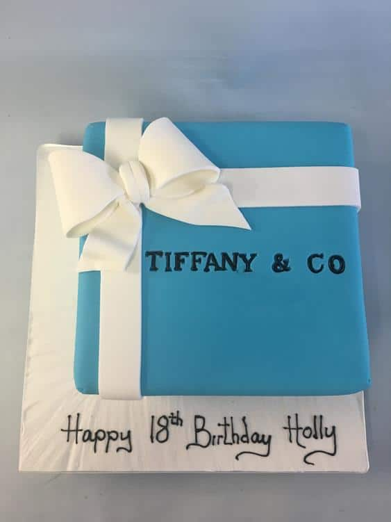 Tiffany Box Birthday cake