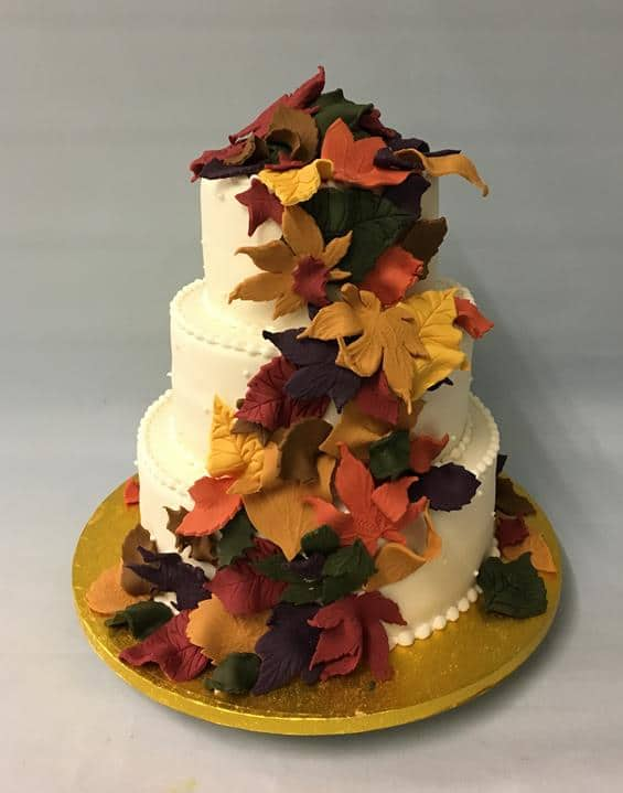 Autum wedding cake, 2