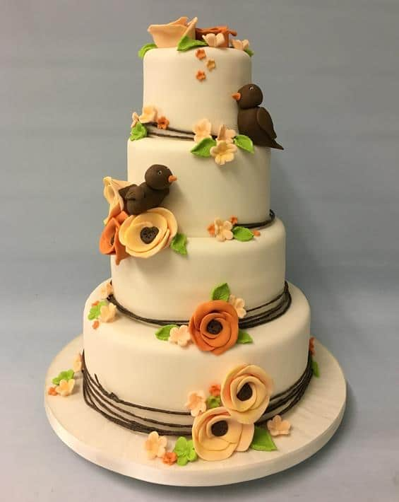 Autum wedding cake,1