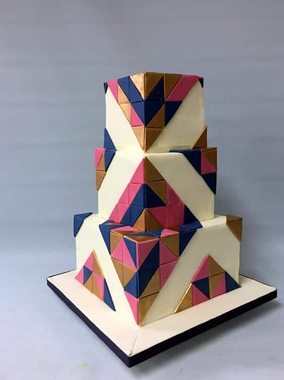 Gatsby,Geometric wedding cake