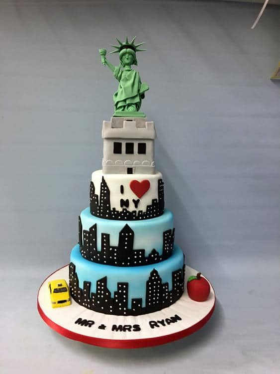 New York Wedding Cake Toppers