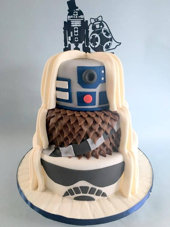 Starwars wedding cake