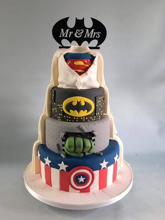 Super hero wedding cake, 3