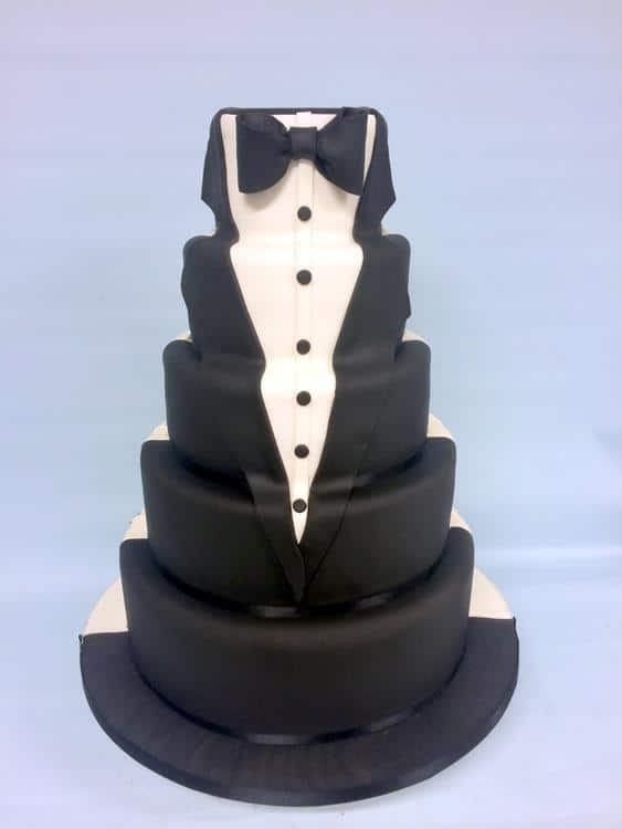 Tuxcedo wedding cake (Copy)
