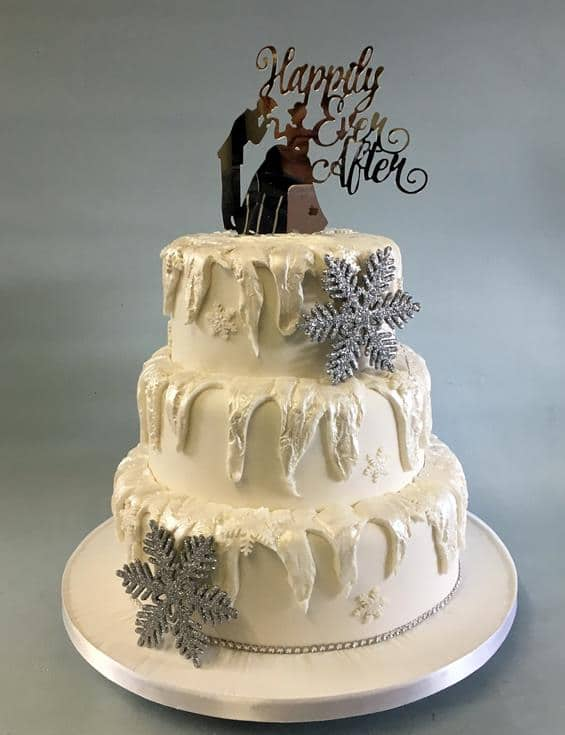 Winter wedding cake,2