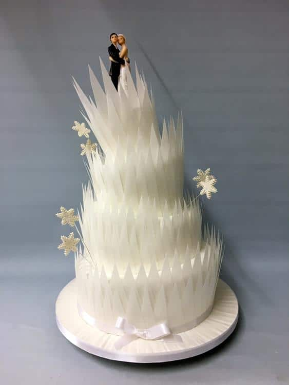Winter wedding cake,3
