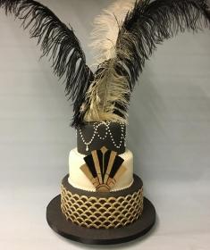 Gatsby wedding cake