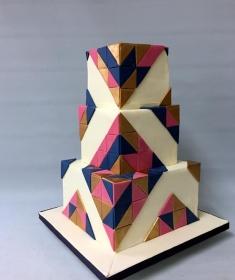 Gatsby,Geometric wedding cake