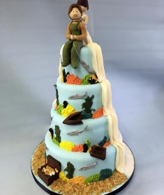 Hobby Themed wedding cake