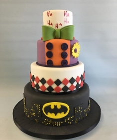 Sucide squad,batman, Joker wedding cake
