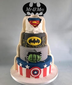 Super hero wedding cake, 3