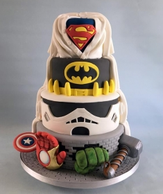 Super hero wedding cake. 1