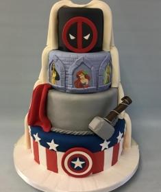 Superhero wedding cake,2