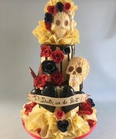 Till Death do us part, Chocolate wedding cake