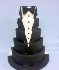 Tuxcedo wedding cake (Copy)